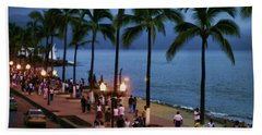 Evenings On The Malecon Beach Towel by Chuck Kuhn