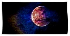 Ever Changing Moon Color Waves Beach Towel by Denise Beverly
