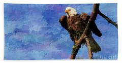 Beach Towel featuring the photograph Ever Watchful by Geraldine DeBoer
