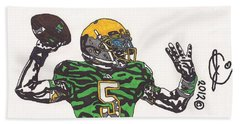 Everett Golson 1 Beach Sheet by Jeremiah Colley