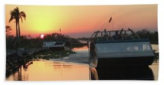 Everglades Sunset Beach Towel