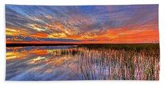 Everglades Sunset Beach Towel