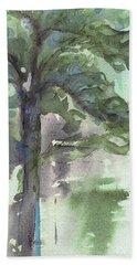 Beach Sheet featuring the painting Evergreen by Dawn Derman