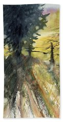 Evergreen Beach Towel by Judith Levins