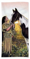 Everlasting Love A Maiden And Spot Beach Towel