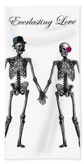 Everlasting Love Couple Skeleton Couple Beach Towel