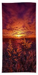 Beach Towel featuring the photograph Every Sound Returns To Silence by Phil Koch