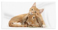 Everybody Needs A Bunny For A Pillow Beach Sheet