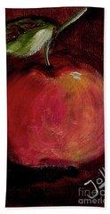 Beach Towel featuring the painting Eve's Apple.. by Jolanta Anna Karolska