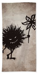 Evil Bug Gives Flower Beach Towel