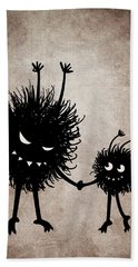 Evil Bug Mother And Child Beach Towel