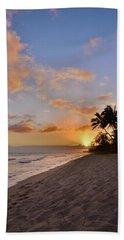 Ewa Beach Sunset 2 - Oahu Hawaii Beach Sheet by Brian Harig
