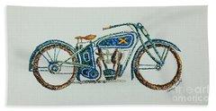 Excelsior Motorcycle Beach Towel