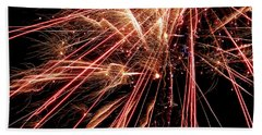 Beach Towel featuring the photograph Exciting Fireworks #0734 by Barbara Tristan