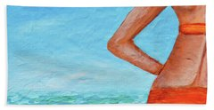 Exhale Softly Beach Sheet by Donna Blackhall