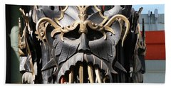 Exotic Chinese Mask Beach Towel