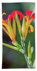 Exotic Flowers Beach Towel
