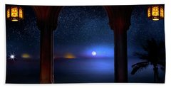 Beach Towel featuring the photograph Exotic Night by Mark Andrew Thomas