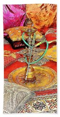 Exotic Oriental Hookah Pipe 2 Beach Towel