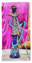 Exotic Oriental Hookah Pipe Beach Towel