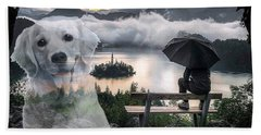 Beach Towel featuring the digital art Expect Miracles by Kathy Tarochione