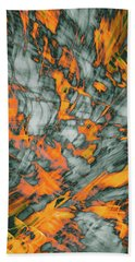 Exploded Fall Leaf Abstract Beach Towel