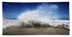 Exploding Seas Beach Towel
