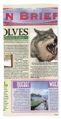 Explore Magazine - Wolves Article Beach Towel