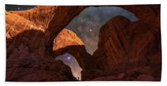 Beach Towel featuring the photograph Explore The Night by Darren White