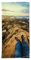 Exploring The Beaches Of Western Tasmania Beach Towel