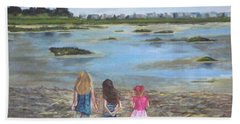Exploring The Marshes Beach Towel