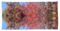 Explosion Of Autumn Leaves Beach Sheet