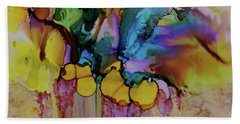 Beach Towel featuring the painting Explosion Of Petals by Joanne Smoley