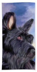 Expression Is Everything Scottish Terrier Dog Beach Sheet