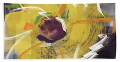 Expressionist Sunflower- Art By Linda Woods Beach Towel