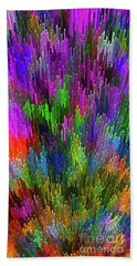 Beach Towel featuring the digital art Extruded City Of Color By Kaye Menner by Kaye Menner