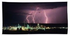 Exxon Lightning Beach Towel