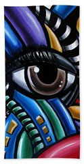 Eye Abstract Art Painting - Intuitive Chromatic Art - Pineal Gland Third Eye Artwork Beach Sheet