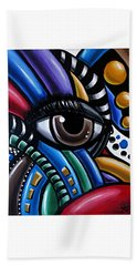 Eye Am - Abstract Eye Art Beach Sheet