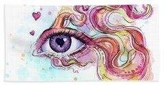Eye Fish Surreal Betta Beach Towel