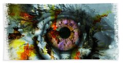 Eye In Hands 001 Beach Towel