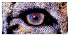 Eye Of A Tiger Beach Towel