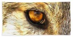 Eye Of A Wolf. Beach Towel