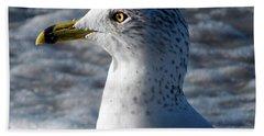 Eye Of The Gull Beach Towel