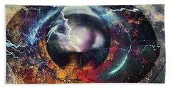 Beach Sheet featuring the digital art Eye Of The Storm by Linda Sannuti