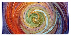 Eye Of The Storm Beach Towel by Sue Melvin