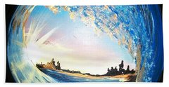 Eye Of The Wave Beach Towel