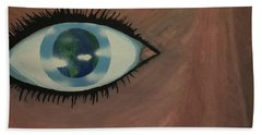 Beach Towel featuring the painting Eye Of The World by Thomas Blood