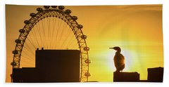 Eye On The London Eye  Beach Towel
