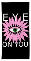 Eye On You - Black Beach Towel